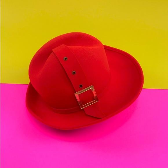 d99b9aa6c88 Vintage 60s 70s mod fedora retro belted bucket hat.  M 5a63cd45b7f72b0f62fd0876